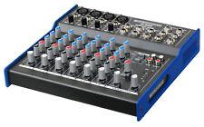 DJ PA MIXER CONTROLLER STATION 8 CHANNELS AUDIO FX EQ XLR JACK INPUT OUTPUT