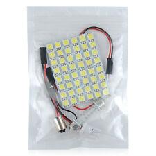 Car Interior Dome Panel White LED Light 48 SMD 5050 Lamp T10 Festoon BA9S Lights
