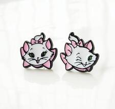 Disney Marie Cat tail up metal earring ear stud earrings studs anime fashion new