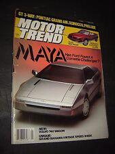 Motor Trend Magazine 1985 May  GT3-way:Grand Am, Scirocco, Prelude volvo