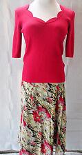 Jones NY Skirt 10 And Dana Buchman Blouse Medium Set Floral Fuscia Multi Color
