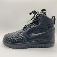 Nike Lunar Air Force 1 Duckboot Black Waterproof Sneaker Boot Size:8 916682-002