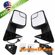 Fit 98-01 Dodge Ram 1500 / 98-02 2500 3500 Power Heated Telescoping Tow Mirrors