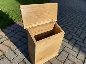 Delivery Box Post Box Parcel  Letters Wooden Solid Oak Wall Mounted , Mail