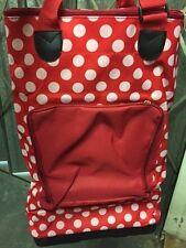 Lunares Rojos Shopper Bolso De Compras Plegable Con Ruedas Asas de transporte plegable