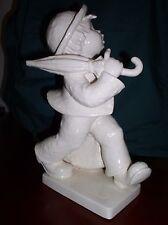 """Hummel Goebel Very Rare White Porcelain """"Merry Wanderer"""" Tmk 6, Hum 7,11"""