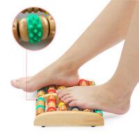 Massage Foot Roller Massager Dual Wooden Stress Relief Pain Feet Heel Arch Wood
