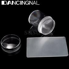 3.8cm Large Clear Jelly Nail Art Stamper+ Scraper Silicone Nail Stamping Tools