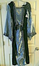 Womens Queen of Thrones Dress Theater Costume Cosplay Blue with Hood Medium
