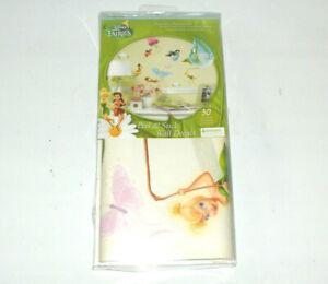 Disney Fairies Glitter Peel & Stick Wall Decals BRAND NEW