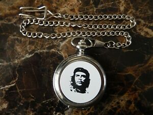 CHE GUEVARA CHROME POCKET WATCH WITH CHAIN (NEW)