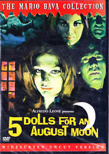 5 Dolls for an August Moon (DVD, 2001) Mario Bava Collection Uncut Version New