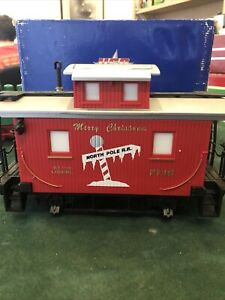 Lionel Christmas Caboose, G Scale 7716 North Pole R.R.