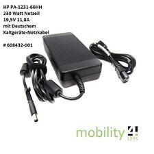 HP Netzteil HSTNN-LA12 19,5V 11,8A 230 Watt 608432-001 609946-001 HSTNN-DA12