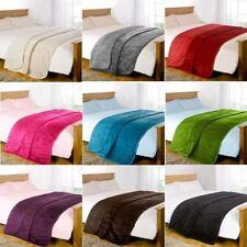 Faux Fur Blanket Fleece Throw Mink Sofa Bed Luxury Double King Size Warm Large
