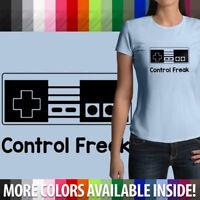 Control Freak NES Classic Retro Nintendo Controller Tee Juniors Womens T-Shirt