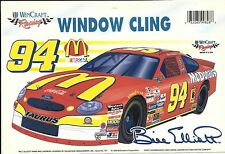 NASCAR WINCRAFT STICKER BILL ELLIOTT #94 WINDOW CLING  DECAL FROM 1998 FORD