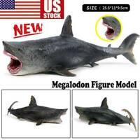 Megalodon Model Figure Action Shark Ocean Animal Collector Toys US