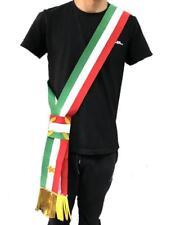 Fascia Tricolore Da Sindaco A Nodo Scorrevole Per Adulti Made In Italy PS 04629