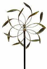 Wind Spinner Garden Yard Decor Kinetic Windmill Dual Turbine Outdoor Stake