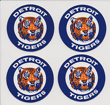 Detroit Tigers Retro 1960s Circular Logo on 4 Peel-Back Stickers Never Used |