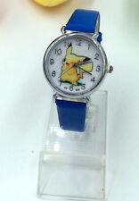 Pikachu Pokemon Monsters Kids Children Birthday Party Gift Wrist Watch Blue