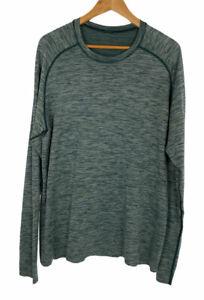 Lululemon Mens Green Heathered Long Sleeve Metal Vent Tech Shirt Size XL