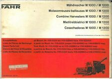 FAHR COMBINE HARVESTER M1000 & M1200 PARTS MANUAL - AB2