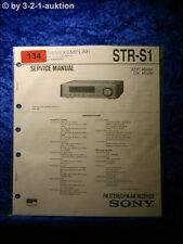 Sony Service Manual STR S1 Receiver  (#0134)