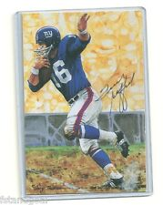 FRANK GIFFORD AUTOGRAPHED SIGNED SERIES 1 GOAL LINE ART NEW YORK GIANTS HOF