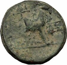 AIGAI in Aiolis 2nd Cent BC Hermes & Goat Quality Ancient Greek Coin  i36752