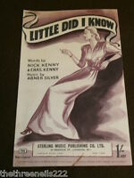 ORIGINAL SHEET MUSIC - LITTLE DID I KNOW