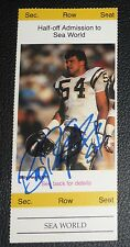 Billy Ray Smith Signed 1989 Chargers Junior Tickets Football Card #11 Autograph