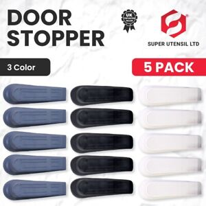 5x Door Wedge Rubber Heavy Duty Stop  Large Strong Stopper Jam Jammer Non Slip
