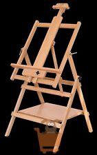 Loxley Artists Wooden Essex Studio Easel with Storage Shelf Adjustable Tilting