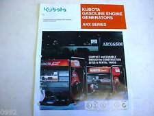 Kubota Gasoline Engine Generators Literature