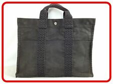 Authentic HERMES Canvas Tote bag Yale line MM 5l370020