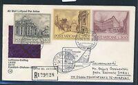 80656) Vatikan, Zul. zu  LH FF Frankfurt - Dubai 4.4.77, sp cover Reco, Ausfall