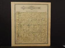 Illinois Marshall County Map Saratoga Township 1911 J12#60