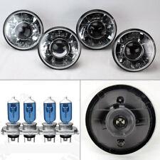 "FOUR 5.75"" 5 3/4 Round H4 Clear Projector Glass Headlights w/ Bulbs Set Mercury"