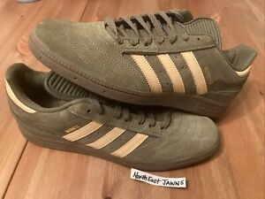 DS Adidas skateboarding Busenitz Pro 11  green olive suede Palace RARE