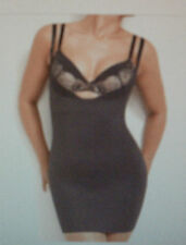 BODY Nancy Ganz: Size: M. (10-12) Allure Sleek Smooth Black/Lace, UnderBust Slip