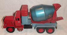 "1950's 1960's Large Cragstan Japan Tin Cement Mixer Toy Truck 13 3/4"" Excellent"