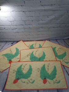 Lady Bug Leaf Print Handmade Quilted Baby Changing Pad Bassinet Liner Lot of 5
