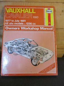 461 Haynes Manual Vauxhall Cavalier 1256cc 1300 1977-1981 All OHV Models