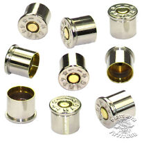 9 REAL NICKEL 44 MAG BULLET BOLT CAPS for HARLEY ENGINE COVERS