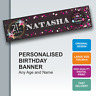 Personalised Birthday Banner 18th 21st 30th 40th 50th 60th 70th 80th 90th - D071