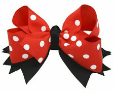 Disney Themed Minnie Mouse Hair Bow Clip - Childrens Girls Ladies - UK Seller