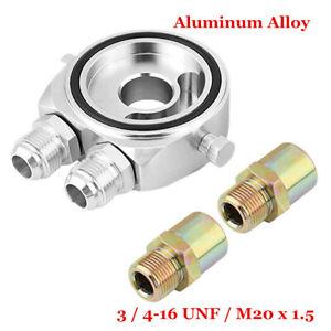 """Oil Cooler Filter Sandwich Plate Adapter AN10 - M20 X 1.5MM 3/4"""" 16 UNF 1/8"""" NPT"""