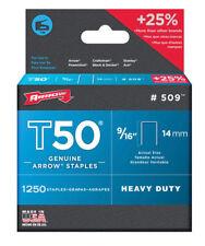 Arrow 509 T50 9/16-Inch Staples, 1,250-Count